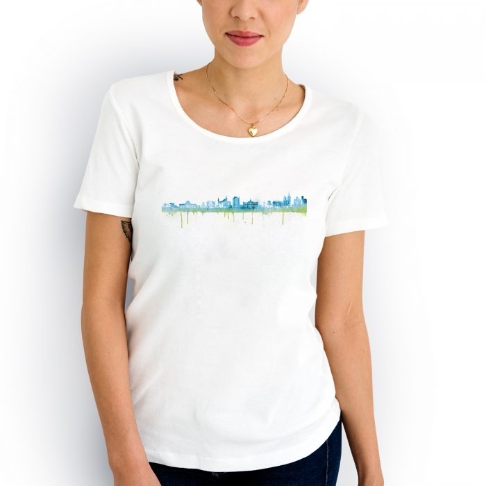 Goettingen Skyline Blau 700x700, Kunstbruder