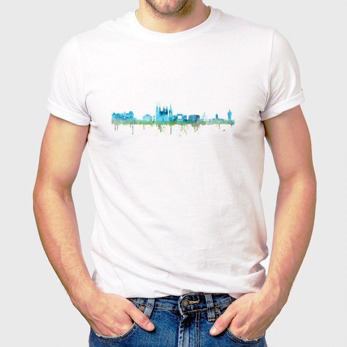 Halle Saale Skyline Blau 1 700x700, Kunstbruder