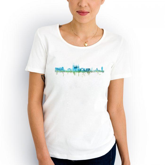 Halle Saale Skyline Blau 2 700x700, Kunstbruder