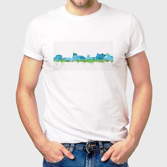 Heidelberg Skyline Blau 1 700x700, Kunstbruder