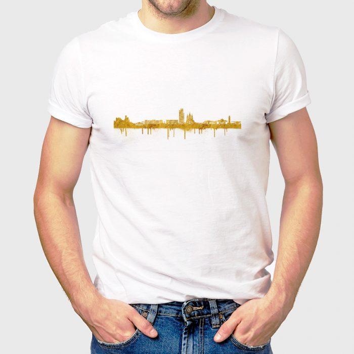 Kaiserslautern Skyline Weiss Gold 700x700, Kunstbruder