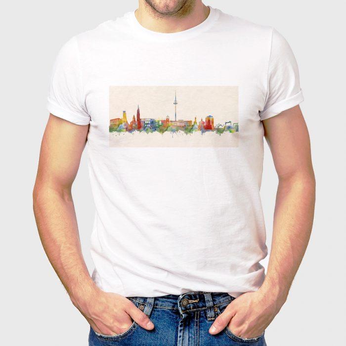 Kiel Skyline Farbe 700x700, Kunstbruder